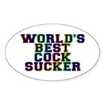 World's best cocksucker - Sticker (Oval 10 pk)
