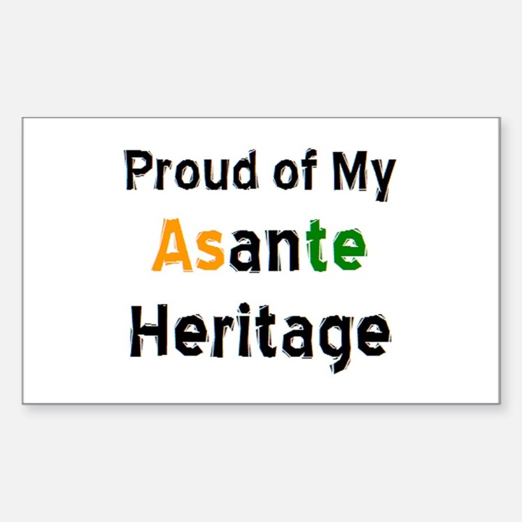 asante heritage Sticker (Rectangle)