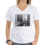 Dallas, Downtown-1950's #2 Women's V-Neck T-Shirt