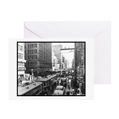 Dallas, Downtown-1950's #2 Greeting Cards (Package