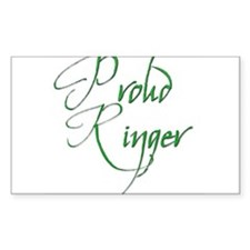 Proud Ringer 6 Rectangle Decal