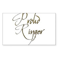 Proud Ringer 7 Rectangle Decal