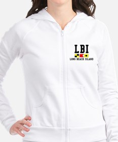 Long Beach Island, NJ Fitted Hoodie