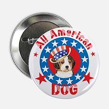 Patriotic Beagle Button