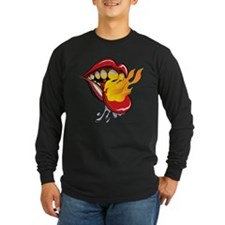 Soyracha Flaming Tongue Long Sleeve T-Shirt