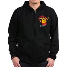 Soyracha Flaming Tongue Zip Hoodie