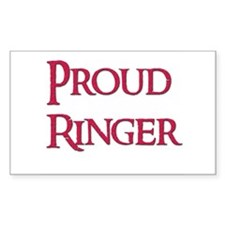 Proud Ringer 14 Rectangle Decal