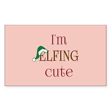 I'm Elfing Cute Fun Holiday Sticker