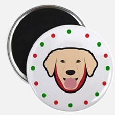 """Yellow Lab, Happy Holidots 2.25"""" Magnet (10 pack)"""