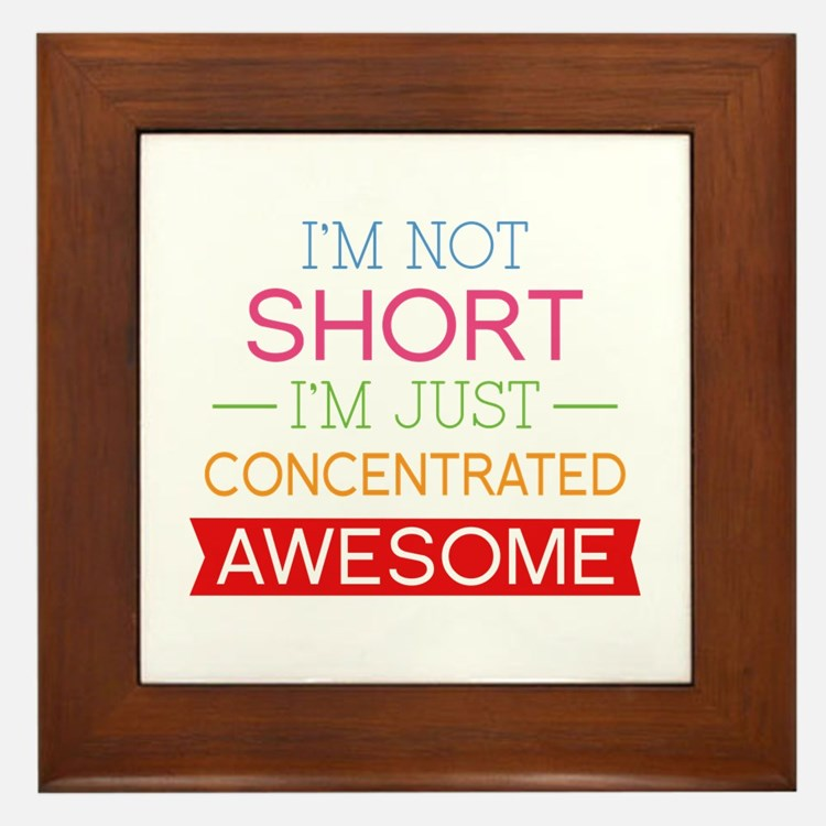 I'm Not Short I'm Just Concentrated Awesome Framed