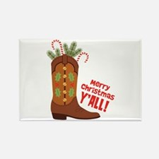 Western Cowboy Boot Merry Christmas Slang Magnets