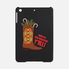 Western Cowboy Boot Merry Christmas Slang iPad Min