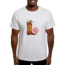 Western Cowboy Boot Merry Christmas Slang T-Shirt