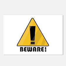 Beware Postcards (Package of 8)