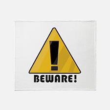Beware Throw Blanket