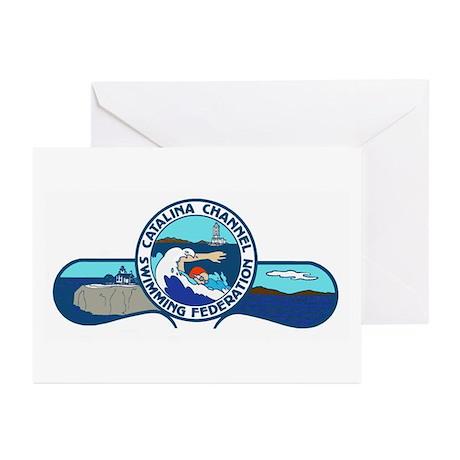 Swim Catalina Logo Greeting Cards (Pk of 10)