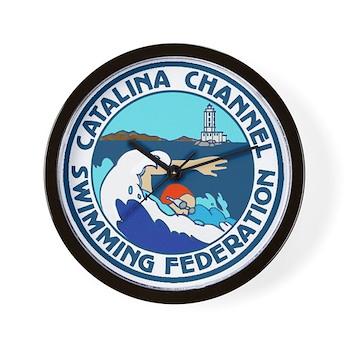 Swim Catalina Wall Clock