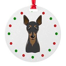 Min Pin, Happy Holidots (round) Ornament