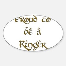 Proud to be a Ringer 1 Oval Decal