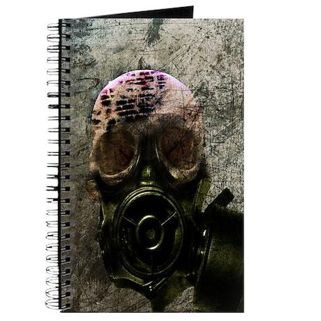 Skull Gasmask Print Journal
