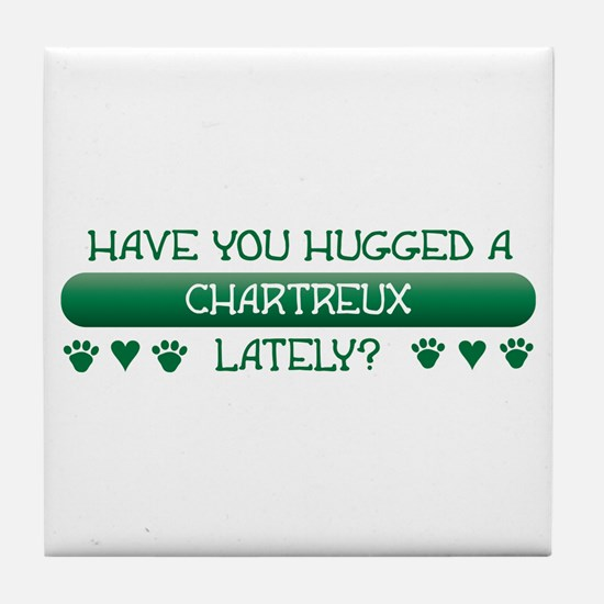 Hugged Chartreux Tile Coaster
