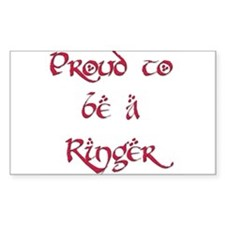 Proud to be a Ringer 7 Rectangle Decal
