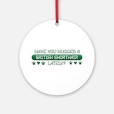 Hugged Shorthair Ornament (Round)