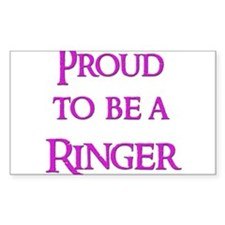 Proud to be a Ringer 9 Rectangle Decal