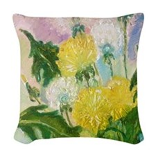 Dandelions Woven Throw Pillow