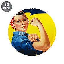 """world war 2 poser art 3.5"""" Button (10 pack)"""