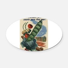 world war 2 poser art Oval Car Magnet