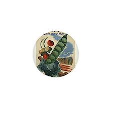 world war 2 poser art Mini Button