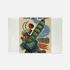 world war 2 poser art Magnets