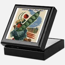 world war 2 poser art Keepsake Box