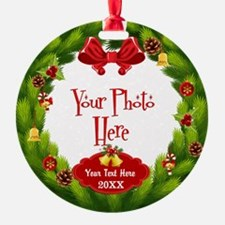 Christmas Wreath Custom Ornament