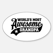 World's Most Awesome Grandpa Sticker (Oval)