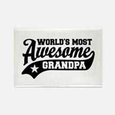 World's Most Awesome Grandpa Rectangle Magnet