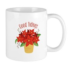 Christmas Poinsettia Plant Good Tidings Mugs