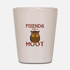 Friends are a Hoot Shot Glass