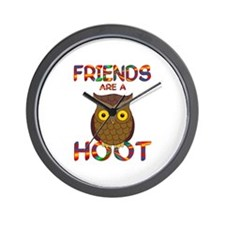 Friends are a Hoot Wall Clock