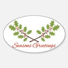 Holly Branches Christmas Seasons Greetings Decal