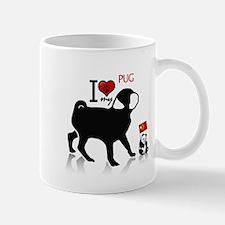 I Love My Pug Collectible Mug