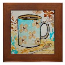 Flower Coffee Mug Framed Tile