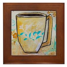 Cute Cup of joe Framed Tile
