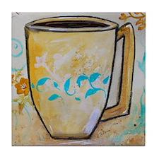 Cute Coffee break Tile Coaster