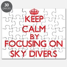 Keep Calm by focusing on Sky Divers Puzzle