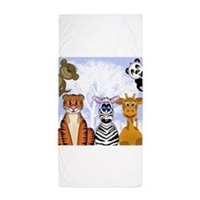 Zoo Animals Beach Towel