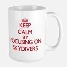 Keep Calm by focusing on Skydivers Mugs