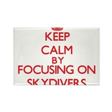 Keep Calm by focusing on Skydivers Magnets