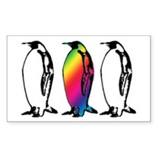 Rainbow Penguin Decal